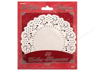 die cuts: Unique Paper Lace Doilies Round 5 1/2 in. White 40 pc.