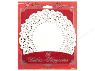 die cuts: Unique Paper Lace Doilies Round 6 1/2 in. White 36 pc.