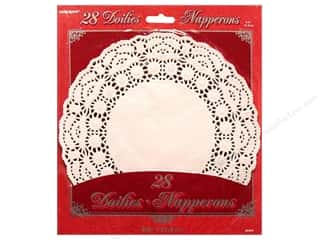 Unique Paper Lace Doilies Round 8 1/2 in. White 28 pc.