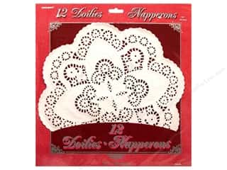 die cuts: Unique Paper Lace Doilies Round 12 in. White 12 pc.
