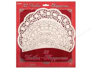 Unique Paper Lace Doilies Round Assorted Size White 32 pc.