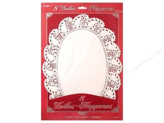 Unique Paper Lace Doilies Oval 10 1/4 x 14 in. White 8 pc.