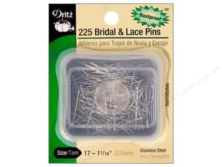 Bridal and Lace Pins by Dritz Size 17 225pc.