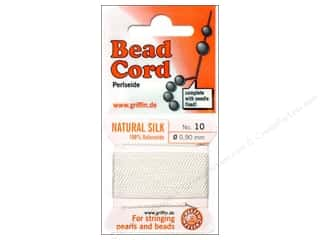 Beadalon Needles: Beadalon Bead Cord 100% Silk Size 10 White 9M