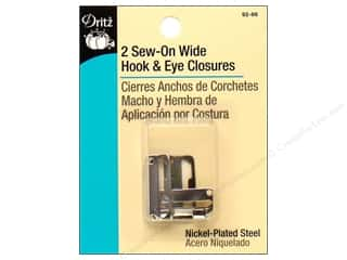 Sew-On Wide Hook & Eye Closures by Dritz 2 pc.