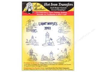 yarn & needlework: Aunt Martha's Hot Iron Transfer #3993 Lighthouses