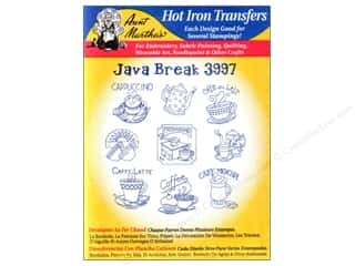 yarn & needlework: Aunt Martha's Hot Iron Transfer #3997 Java Break
