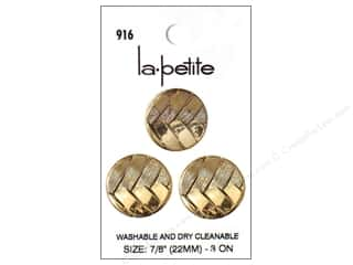 LaPetite Shank Buttons 7/8 in. Antique Gold #916 3pc.