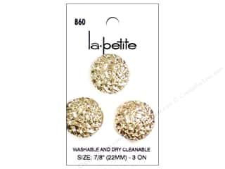 LaPetite Shank Buttons 7/8 in. Gold #860 3 pc.
