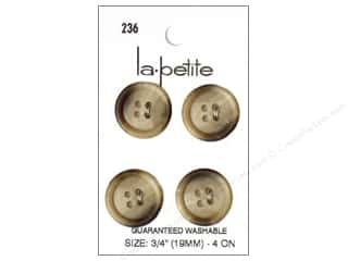 LaPetite 4 Hole Buttons 3/4 in. Beige #236 4pc.