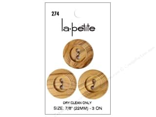 LaPetite 2 Hole Buttons 7/8 in. Natural #274 3 pc.