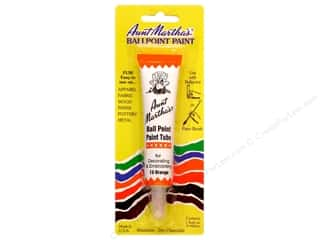 Aunt Martha's Ballpoint Paint Tube - Orange 1 oz.