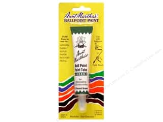 stamps: Aunt Martha's Ballpoint Paint Tube 1 oz. Forest Green