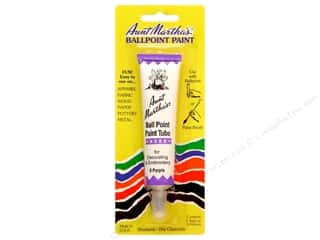 Clearance Dylon Machine Fabric Dye: Aunt Martha's Ballpoint Paint Tube 1 oz. Purple