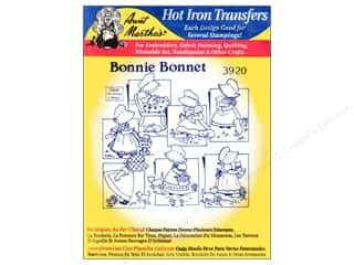 yarn & needlework: Aunt Martha's Hot Iron Transfer #3920 Bonnie Bonnet
