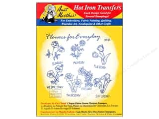 yarn draw: Aunt Martha's Hot Iron Transfer #3931 Red Flowers for Everyday