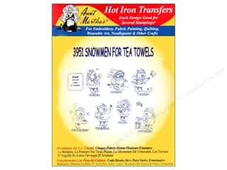 yarn & needlework: Aunt Martha's Hot Iron Transfer #3951 Snowmen