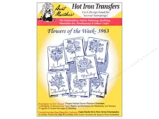 yarn & needlework: Aunt Martha's Hot Iron Transfer #3963 Flowers of the Week