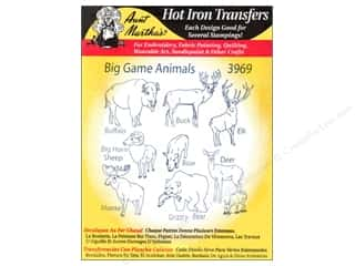 yarn & needlework: Aunt Martha's Hot Iron Transfer #3969 Big Game Animals