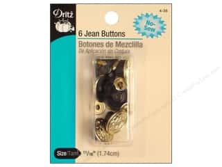 Jean Buttons: Jean Buttons by Dritz Gilt 6pc