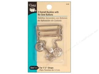 Buckles: Overall Buckle with Button by Dritz 1 1/4 in. Nickel