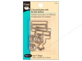 Jean Buttons: Overall Buckles With No Sew Buttons by Dritz 1 in. Nickel