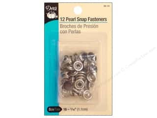 Pearl Snap Fasteners by Dritz 7/16 in. Black 12 pc.