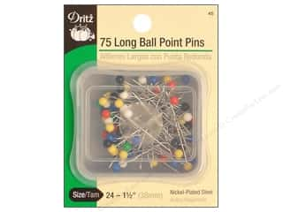 Long Ball Point Pins by Dritz Size 24 75pc.