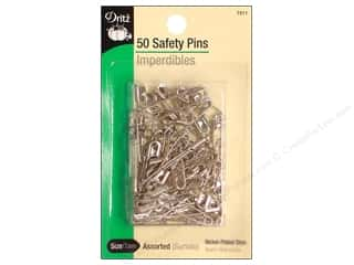 safety pin: Safety Pins by Dritz Assorted Nickel 50pc.