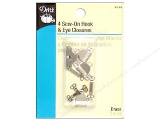 Sew On Hook and Eye Closures by Dritz Nickel 4pc.
