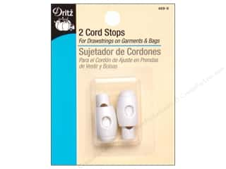 Dritz Cord Stops 3/4 in. White 2 pc.