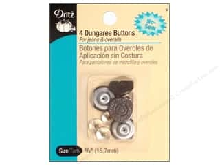 Jean Buttons: No Sew Dungaree Buttons by Dritz Copper 4pc.