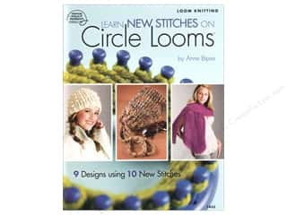 yarn & needlework: American School of Needlework Learn New Stitches on Circle Looms Book by Anne Bipes