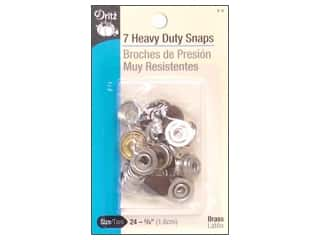 Dritz Heavy Duty Snaps Size 24 7 pc. Brown