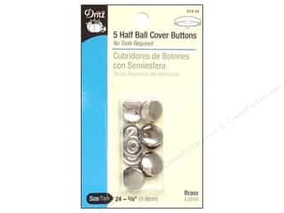 Buttons: Dritz Half Ball Cover Buttons - 5/8 in. 5 pc.