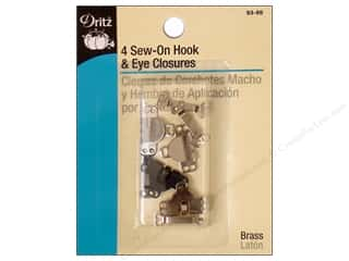 Sew-On Hook and Eye Closures Assorted by Dritz 4 pc