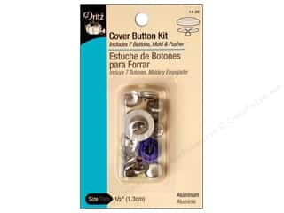 Buttons: Dritz Cover Button Kit - 1/2 in.