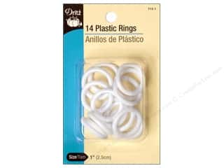 Plastic Rings by Dritz 1in. 14pc