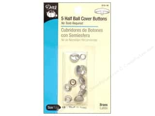cover button: Cover Buttons by Dritz Half Ball 7/16 in. 5 pc.