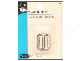 Dritz Vest Buckles 2 pc. Nickel