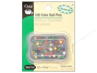 Color Ball Pins by Dritz Size 17 100 pc.