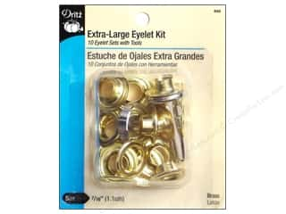 Dritz Extra Large Eyelet Kit 7/16 in Brass 10 pc.