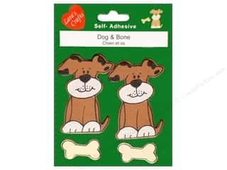 Pre-Painted Wood: Lara's Wood Stickers Dog & Bone 4 pc.