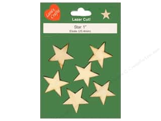 Lara's Wood Star 1 in. 6 pc.