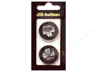 Dill Shank Buttons 1 in. Black #457 2 pc.