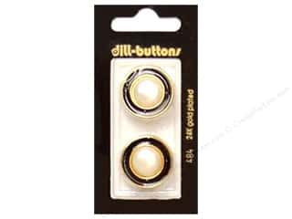 Dill Shank Buttons 7/8 in. Metal Black #484 2 pc.