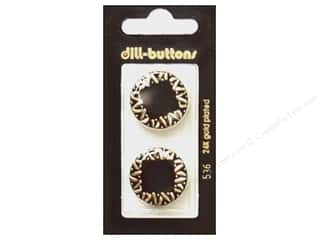 Dill Shank Buttons 7/8 in. Enamel Black #536 2 pc.