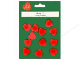 Lara's Wood Painted Heart 1/2 in. 12pc.