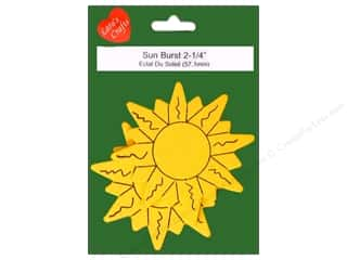 craft & hobbies: Lara's Wood Painted Sun Burst 2 1/4 in. 2pc.