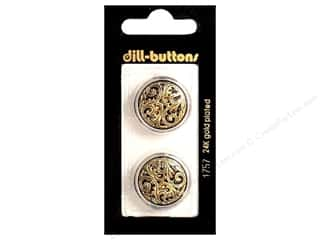 Buttons: Dill Shank Buttons 7/8 in. Antique Gold #1757 2 pc.